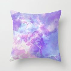 Pastel Purple, pink and Blue Watercolor, Art Pillow, Watercolor Pillow, Throw Pillow, Home Decor, Accent Pillow, with Optional Insert This