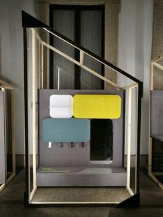 SSSHHH | Sistema di pannelli fonoassorbenti e attrezzati [designed by: Alberto Ghirardello]