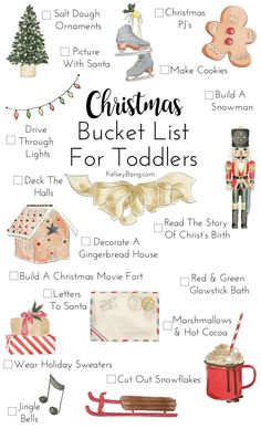 Christmas Bucket List For Toddlers   Kelsey Bang
