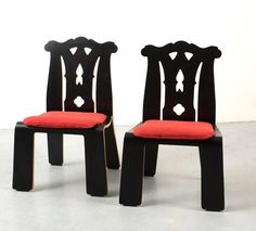 Pair of Robert Venturi Chippendale Chairs for Knoll 10