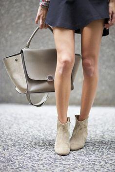 Isabel Marant Booties + Celine Bag