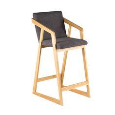 Барное кресло RISE в скандинавском стиле. Удобное барное кресло из массива дерева.