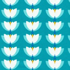 One yard of organic fabric in Lotus Drop, Turquoise from Cloud 9 Organic Fabrics Lotus Pond collection. One yard measures 36 inches by width of fabric Fabric Patterns, Print Patterns, Pattern Designs, Fabric Factory, Lotus Pond, Fibre And Fabric, Cool Fabric, Blue Fabric, Cloud 9