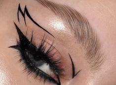 Punk Makeup, Grunge Makeup, Gothic Makeup, Eye Makeup Art, No Eyeliner Makeup, Crazy Makeup, Pretty Makeup, Eyeliner Ideas, Makeup Eyes