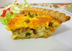 Loaded Potato Quiche | Last minute easy supper with ingredients I usually have on hand.