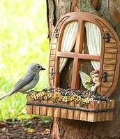 Fairy Window Bird Feeder