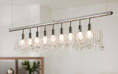 The Traditional Chandelier Gets A Horizontal Makeover With This Stunning Crystal Pendant Light