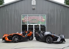 We have Slingshots now too! We are forever expanding at www.garwoodcustomcycles.com