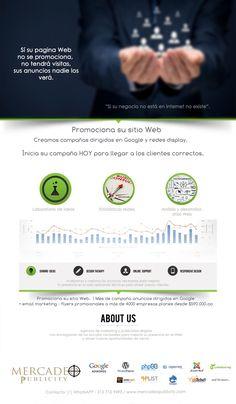 Existen millones de páginas web y en general un usuario de internet mira las primeras páginas de los buscadores.  Promociona su sitio web para estar en primeras posiciones y llegar a los clientes correctos. Más información aquí!