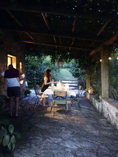 Summer dinner in Umbria.