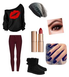 Made me think of my sister by lashlyn on Polyvore featuring polyvore fashion style UGG Australia Michael Stars Charlotte Tilbury Lottie women's clothing women's fashion women female woman misses juniors