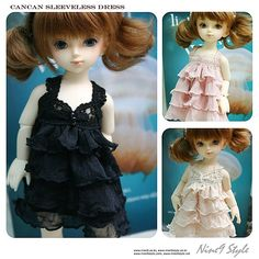 Beautiful 'cancan sleeveless dress' for YOSD from Nine9 Style (clothes of ball jointed doll, BJD)