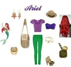 Outfit Ariel, encuentra todos los estilos de los personajes de Disney en... http://www.1001consejos.com/outfits-al-estilo-disney/ #Disney #moda #1001consejos