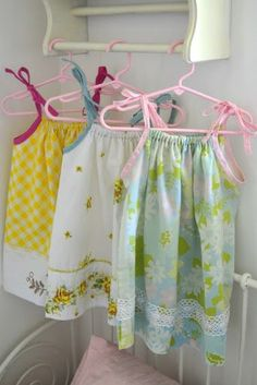 Last night I whipped up three -- that's right, three , that's how easy this tutorial is -- pillowcase dresses. It's simple, thrifty, and f...