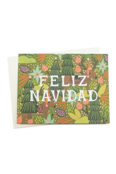 Feliz Navidad! Feliz Navidad! Feliz Navidad! Prospero año y felicidad! Give this card when you want to wish someone a Merry Christmas from the bottom of your heart.