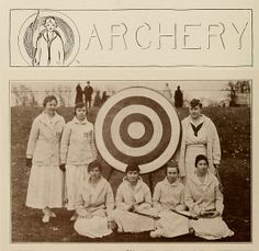 Wellesley College archery club, 1914.