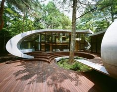Unusual Architecture Structure Into The Woods