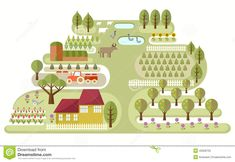 Small Farm - Download From Over 36 Million High Quality Stock Photos, Images, Vectors. Sign up for FREE today. Image: 45958735