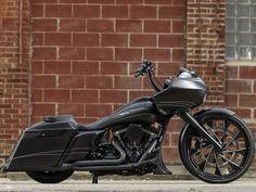custom harley-davidson road glide, black harley-davidson
