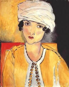 Henri Matisse  Lorette with Turban and Yellow Jacket, 1917, oil on wood, National Gallery, Washington D.C.