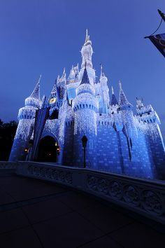 The enchanted Castle Dream Lights on Cinderella Castle