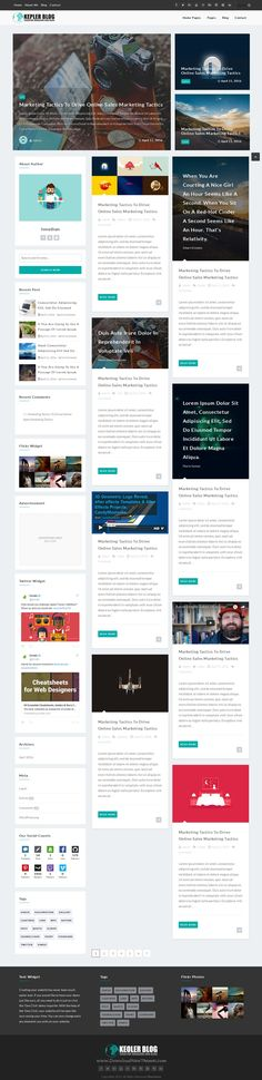 Kepler is a modern and premium WordPress #theme for a news, #newspaper, magazine, shopping, publishing or review #website. Download Now!