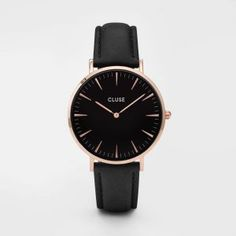 La Bohème Rose Gold Black/Black Rose Gold Watches, Silver Watches, Jewelry Watches, Fashion Men, Fashion Watches, Fashion Guide, Metal Bracelets, Pandora Bracelets, Cluse Montre
