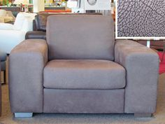 Norway chair in Elmo Rock Brown Leather.  Was $2,899  Now $1,699.  41% off