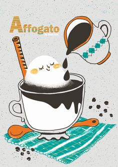 A project A to Z with Mie Food - A : Affogato