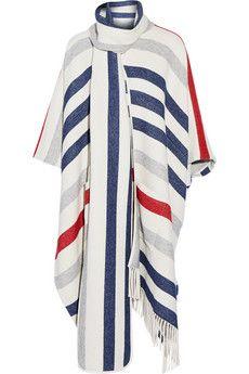 Paul & Joe Banian striped wool-blend poncho | NET-A-PORTER