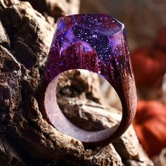 Though purple rain may darken the dead of night, true love will always stay alight ~Midnight purple ring~  #secretwood