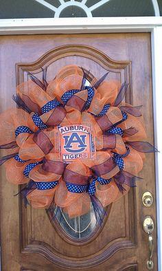 Auburn Tigers Deco Mesh Wreath. $65.00, via Etsy.