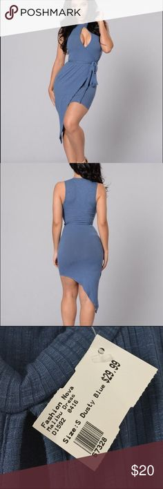 Malibu Dress Adjustable waist straps that give crisscross detailing. High neck with peak of chest. Very stretchy fabric to snug the curves and super lightweight material. Fashion Nova Dresses