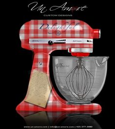 I really want green gingham with a pinup girl Kitchen Couture | Un Amore Custom Designs