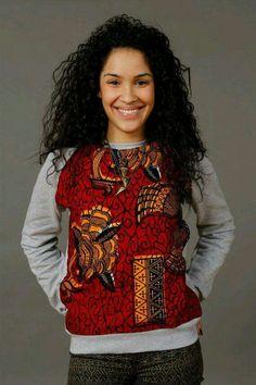 Cool urban wear > Ankara Sweatshirt African Wax Print unisex by SoTribal African Inspired Fashion, African Print Fashion, Africa Fashion, Fashion Prints, African Prints, Ankara Fashion, African Wear, African Attire, African Women