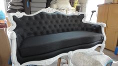 Looking for ideas for reupholstering my newest craigslist purchase, vintage french couch! I'm thinking olive green?