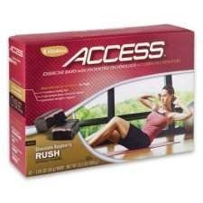 Access Exercise Bars - Chocolate Raspberry Rush by Melaleuca. $22.00. Naturally block the energy-sapping effects of adenosine. Improve muscle tone and build lean muscle?. Reduce body fat by up to 10%*?. Increase endurance with less fatigue and soreness. Access stored body fat faster to fuel your workout. Obtained from website:  During exercise the body produces adenosine, which slows fat burning and promotes fatigue, soreness, and reduced muscle contraction. The...