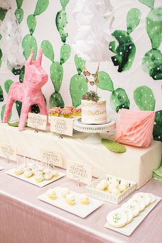 Cactus themed first birthday party | Pink party ideas | 100 Layer Cakelet