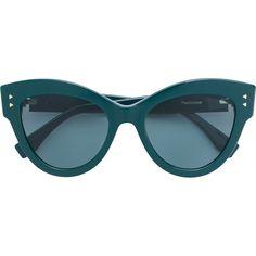 edf29b755d7c4 Fendi Eyewear tinted cat eye sunglasses ( 420) ❤ liked on Polyvore  featuring accessories