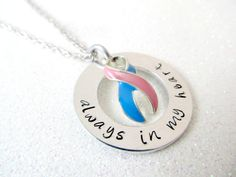 Hand Stamped Baby Loss Awareness Necklace - Pregnancy and Infant Loss Jewelry, SIDS Awareness, Stillbirth Awareness, Miscarriage Keepsakes