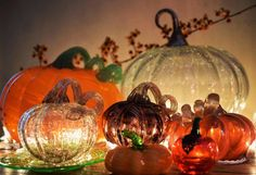 """146 Likes, 18 Comments - 🍃michelle lynn fritz🍃 (@michellelynnfritz) on Instagram: """"Utterly addicted to glass pumpkins 🍃🍊🍃 Anyone else? The lady at Pier 1 said I'm not the only one...…"""""""