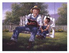 Jack Sorenson Grandpa reading the Bible to his grandson. Legrand, Cool Magazine, Country Art, Norman Rockwell, Western Art, Oeuvre D'art, Good Books, Book Art, Fine Art Prints