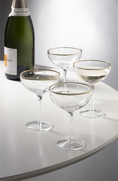 Spotted champagne glasses