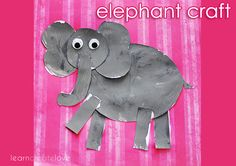 elephant arts and crafts for preschoolers - Google Search
