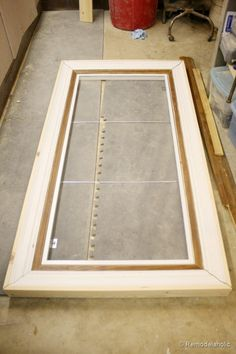 how to build a large chunky frame for a chalkboard-6 (1)