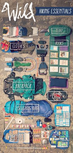 Hiking, camping and backpacking essentials.