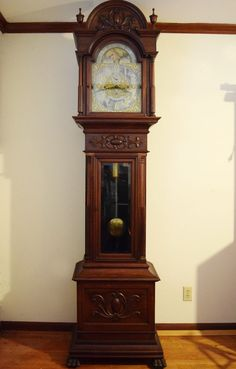 Antique Grandfather Clock Herschede circa 1911 in Charleston, South Carolina