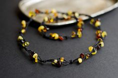 Necklace amber genuine amber necklace by MELISSAaccessories, $22.00