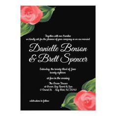 Perfect Poppies Wedding Invitation - wedding invitations cards custom invitation card design marriage party