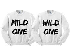 White Crewneck Mild One Wild One Best Friends Sweatshirt Sweater Jumper Pullover